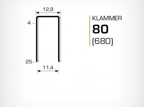 Klammer 80 aluminium