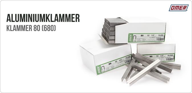 Aluminiumklammer 80 eller klammer 680